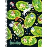 Caderno Universitário Capa Dura Rick and Morty - 1 Matéria - 80 folhas - Tilibra
