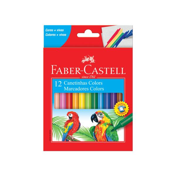 Canetinha Hidrocor 12 cores - Faber-Castell