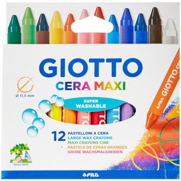 Giz de Cera Maxi 12 cores - Giotto