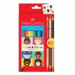 Ecolápis de Cor 12 Cores + 3 Caras & Cores - Faber-Castell