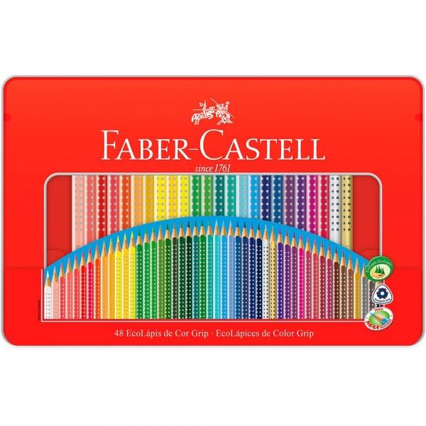 Ecolápis de Cor Grip 48 Cores Estojo Lata - Faber-Castell