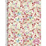 Caderno Universitário Capa dura Pepper Feminino - 10 Matérias - 160 Folhas - Tilibra