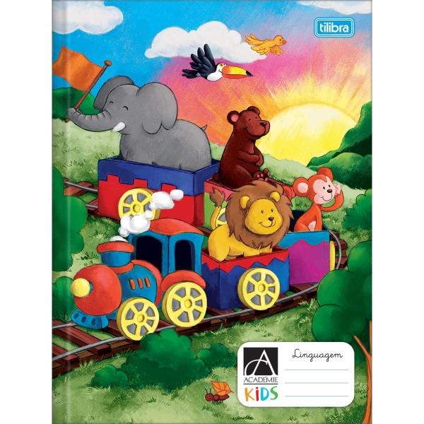 Caderno Brochura Capa Dura Kids Linguagem 40 folhas - Tilibra