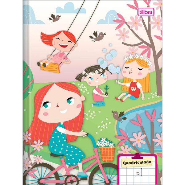 Caderno Brochura Capa Dura Sapeca Quadriculado 1x1cm 40 folhas - Tilibra