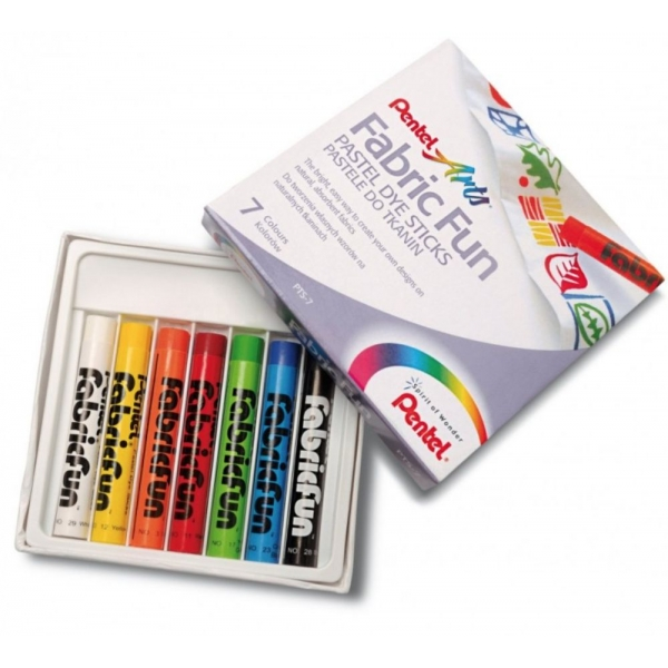 Giz Pastel Seco Fabric Fun 7 cores - Pentel