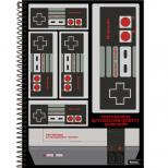 Caderno Universitário Capa Dura Super Nintendo - 1 Matéria - 96 Folhas - Foroni