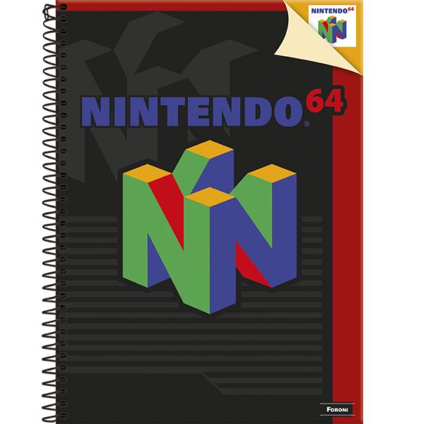 Caderno Universitário Capa Dura Super Nintendo - 10 Matérias - 200 Folhas - Foroni