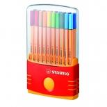 Caneta Extrafina Point 8820-03 Estojo ColorParade Com 20 Cores - Stabilo