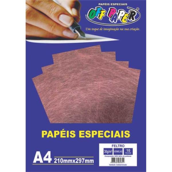 Papel Especial - Feltro - Off Paper