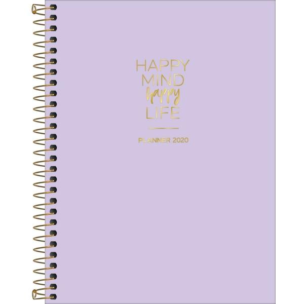Planner Happy Lilás 2020 - Tilibra