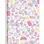Caderno Universitário Capa Dura Jolie Classic - 1 Matéria - 80 Folhas - Tilibra
