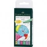 Estojo de caneta artística com 6 cores A&G - Faber-Castell