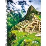 Caderno Universitário Capa Dura Click Explora - 16 Matérias - 256 Folhas - Tilibra