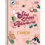 Caderno Universitário Capa Dura Capricho - 10 Matérias - 160 Folhas - Tilibra