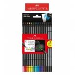 Ecolápis de Cor Supersoft 12 Cores + 2 Grafite - Faber-Castell