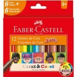 Gizão de Cera 12 Cores Caras & Cores - Faber-Castell