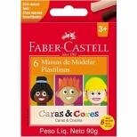 Massa de Modelar 6 Cores Caras & Cores - Faber-Castell