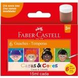 Guache 6 Cores Caras & Cores - Faber-Castell