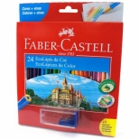 Ecolápis de Cor 24 Cores + 1 Apontador c/Depósito - Faber-Castell