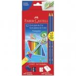 Ecolápis de Cor Triangular 12 Cores + Kit Escolar - Faber-Castell