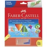 Ecolápis de Cor Triangular 24 Cores + 1 Apontador c/Depósito - Faber-Castell