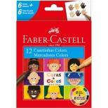 Canetinha Hidrocor Caras & Cores 12 cores - Faber-Castell