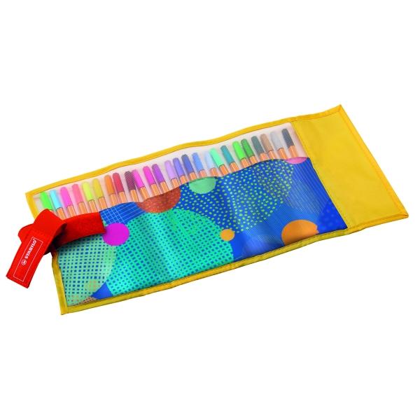 Caneta Extrafina Point 8825-07  Estojo Com 20 Cores + 5 Neon - Stabilo