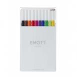 Caneta Extrafina Emott 10C Nº1 Standard Colors  Estojo Com 10 Cores - Uni-Ball