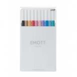 Caneta Extrafina Emott 10C  Nº2 Soft Pastel Colors Estojo Com 10 Cores - Uni-Ball