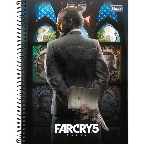 Caderno Universitário Capa Dura Far Cry - 1 Matéria - 80 Folhas - Tilibra