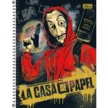 Caderno Universitário Capa Dura La Casa De Papel - 10 Matérias - 160 Folhas - Tilibra