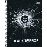 Caderno Universitário Capa Dura Black Mirror - 10 Matérias - 160 Folhas - Tilibra