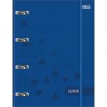 Fichário Universitário c/elástico Lunix Azul - Tilibra