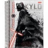 Caderno Universitário Capa Dura Star Wars Filme - 10 Matérias - 200 Folhas - Jandaia