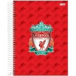 Caderno Universitário Capa Dura Liverpool - 10 Matérias - 200 Folhas - Jandaia