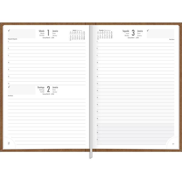 Agenda Costurada Diária Prátika - Tilibra